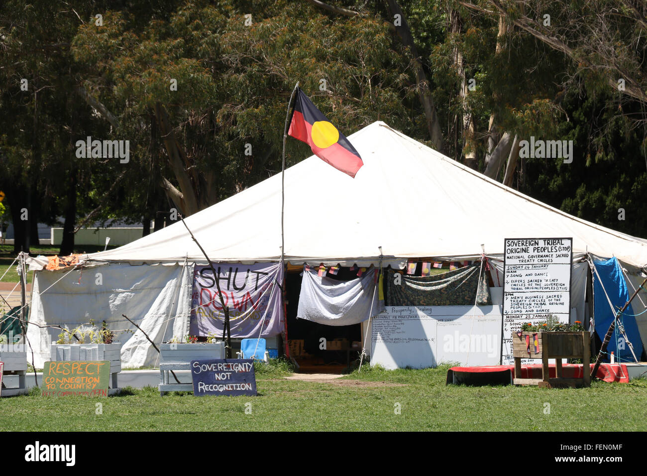 The Aboriginal Tent Embassy in Canberra Australia & 7 Feb 2016. The Aboriginal Tent Embassy in Canberra Australia ...