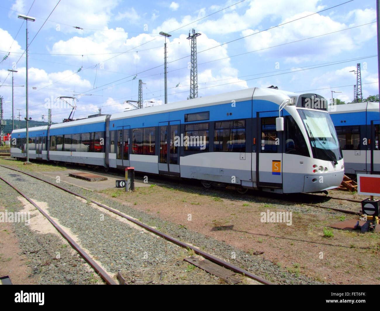 Siemens Tram Saarbruecken 1017B p1 Stock Photo, Royalty ...