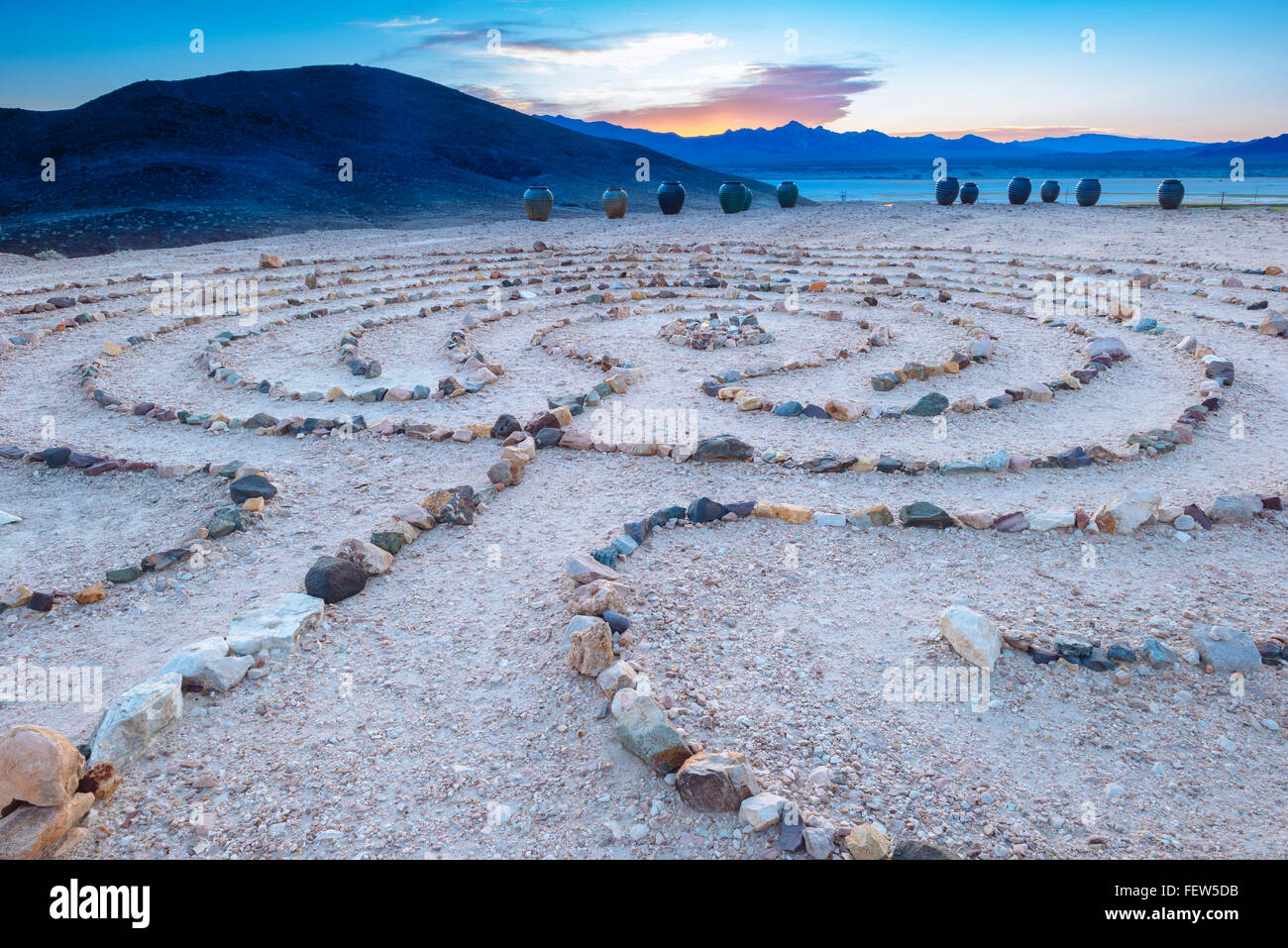 The Yaga Labyrinth, overlooking the small desert town of ...