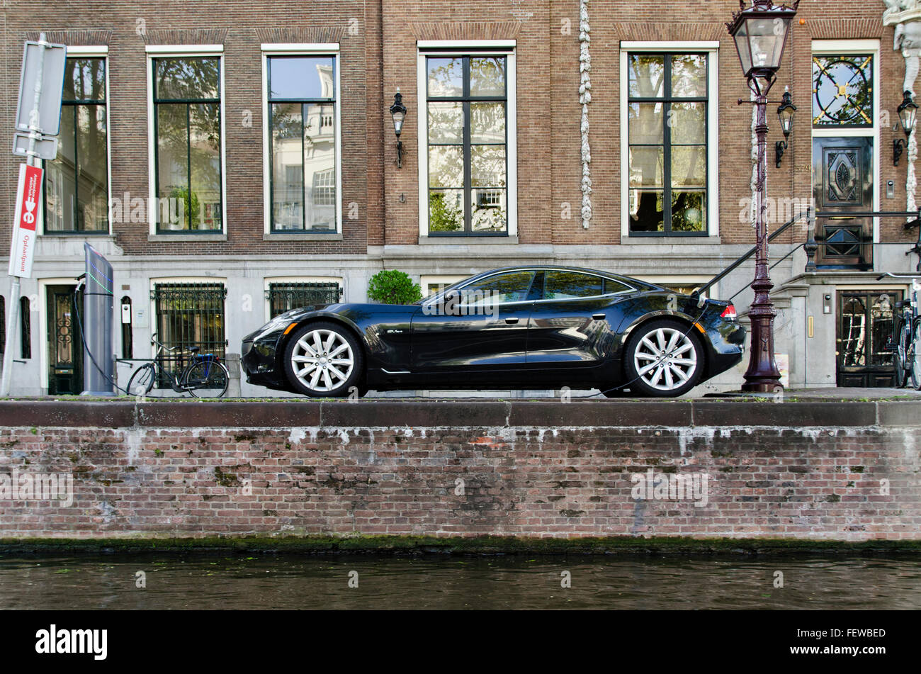 Amsterdam Holland The Netherlands Parked Electric Cars
