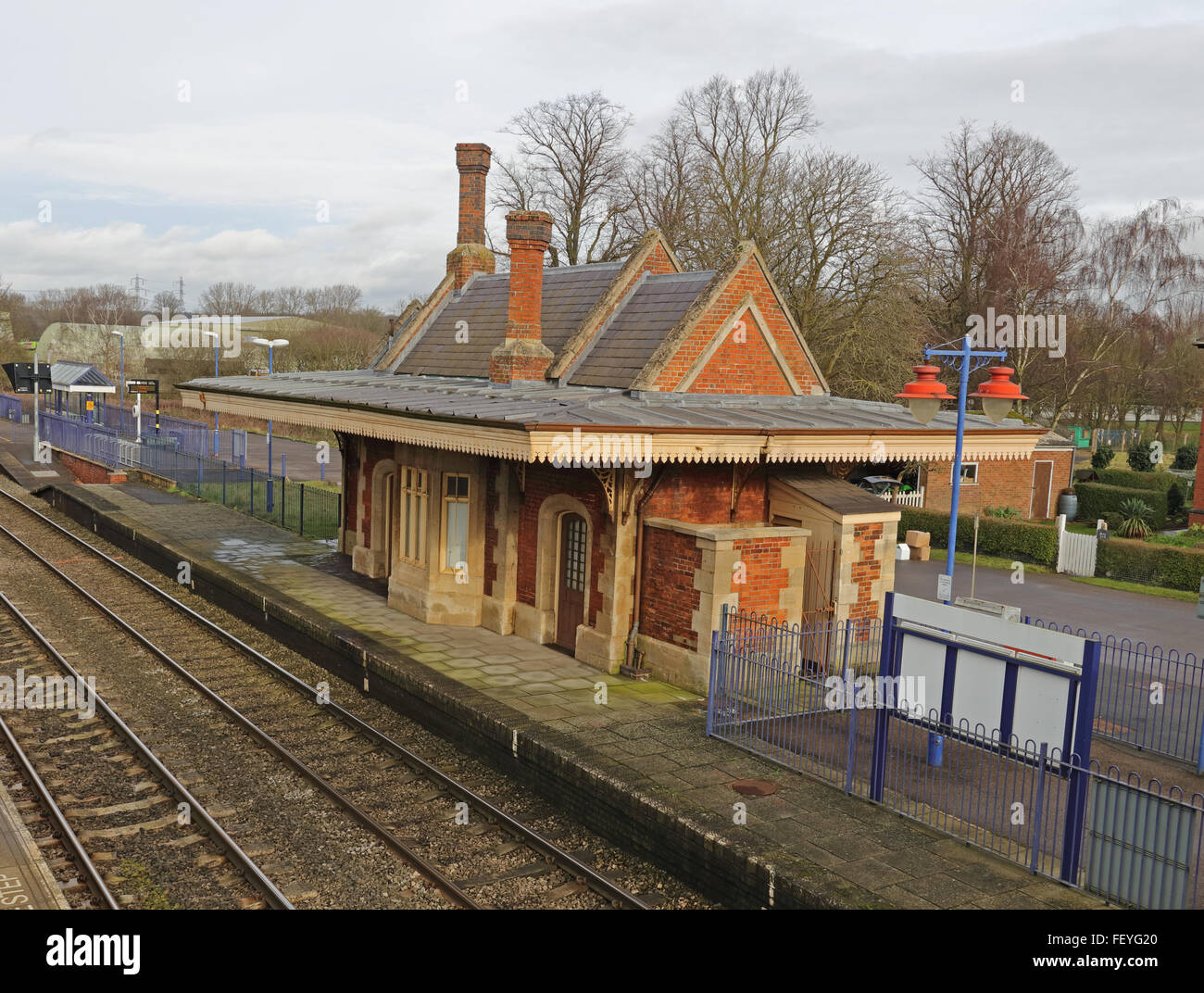 Culham Preserved Railway Station Building Made Of Red