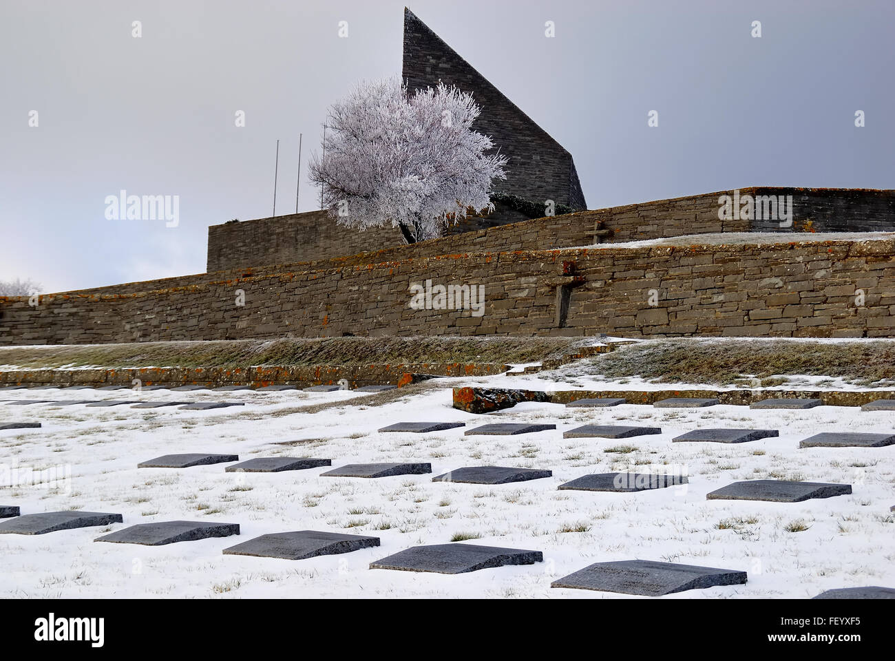 Futa Pictures with wwii. futa pass german cemetery and memorial in the snow. 30.658