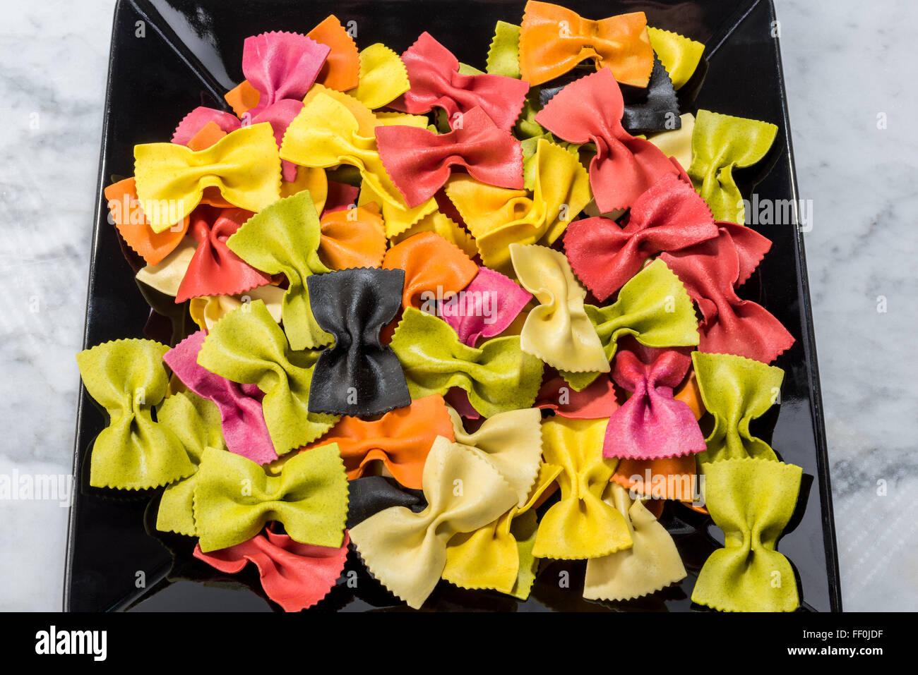 farfalle italy italian pasta pasta colored bicolor multicolor