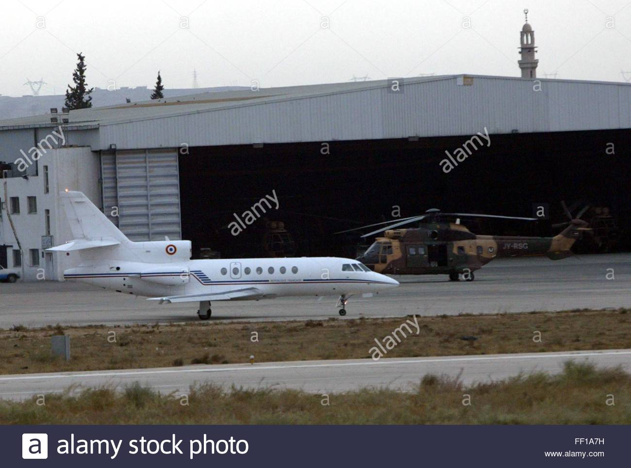 A French Hospital Plane (l) Prepares For Take-off At A Jordanian ...