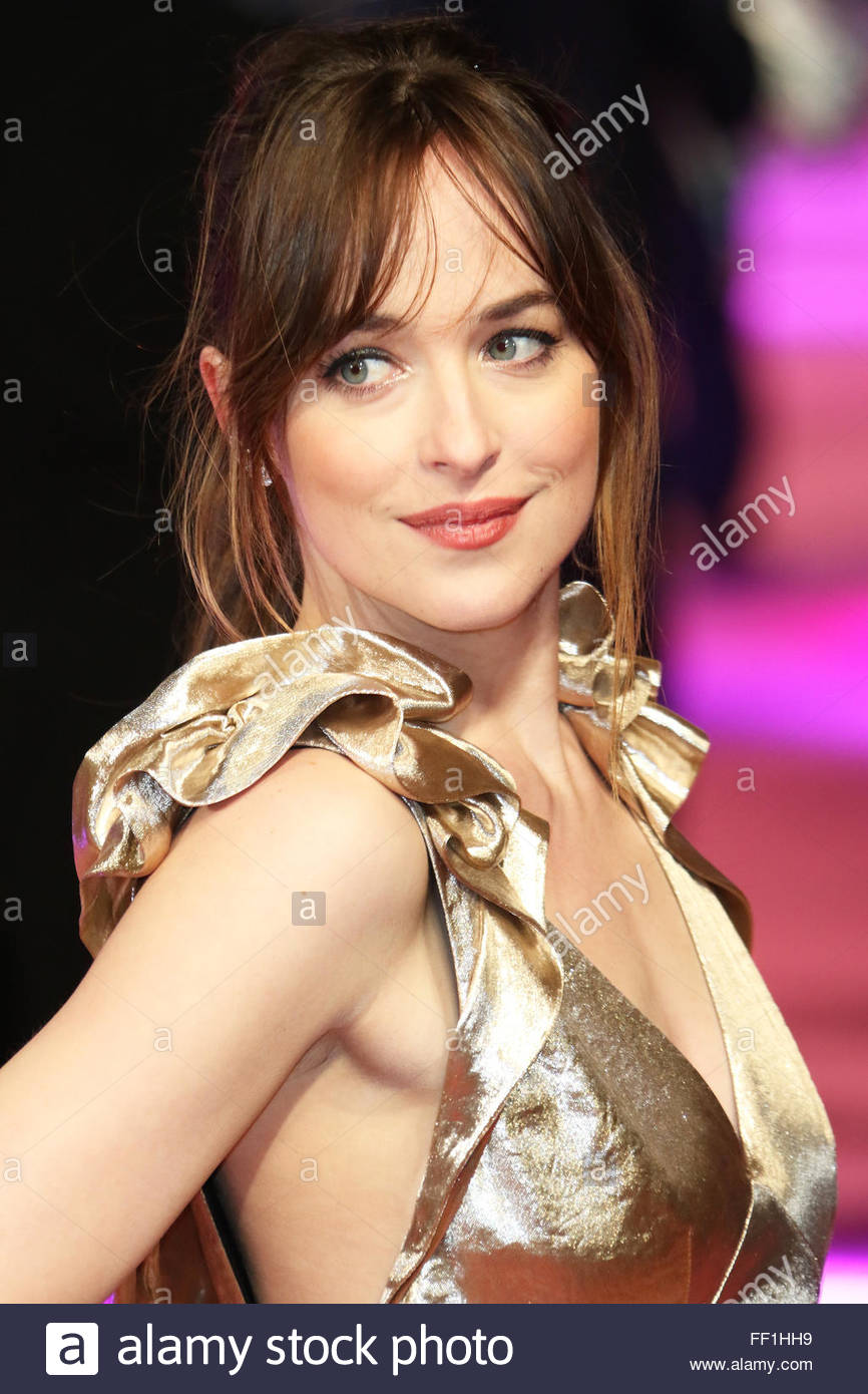 United Kingdom, London: American Actress Dakota Johnson Attends How To Be  Single European Premiere, At Leicester Square, In London, On February 9,  2016
