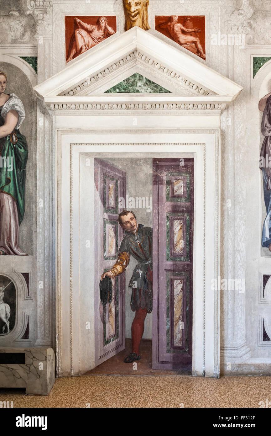 Villa Barbaro (Villa di Maser), Italy, built by Palladio ...