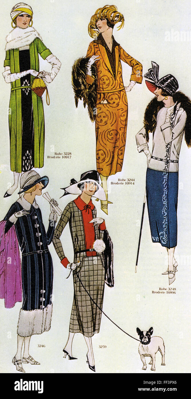 French fashions in 1921 from les miroirs des modes for Miroir des modes value