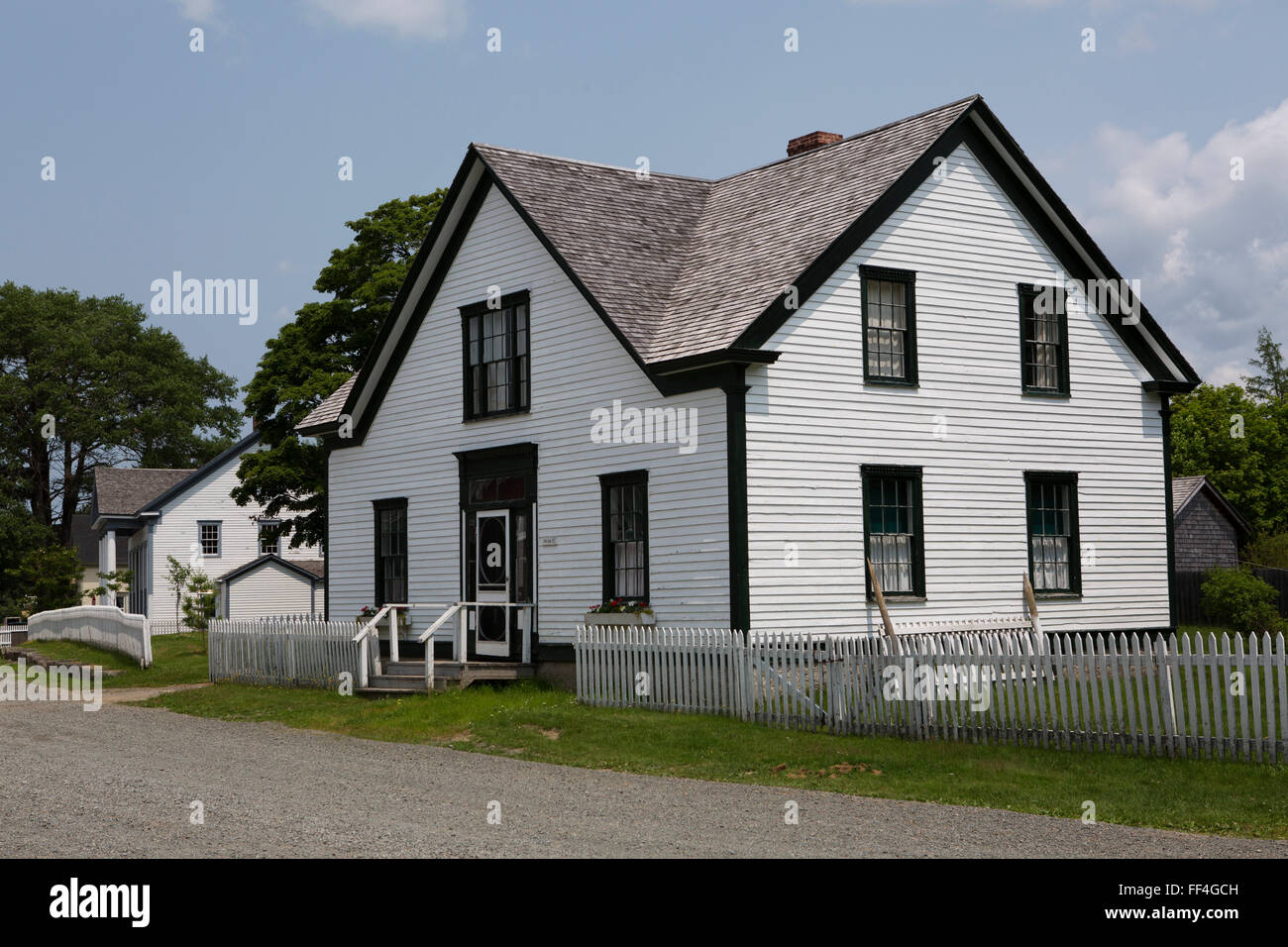 Houses in sherbrooke village in nova scotia canada the for Houses nova scotia