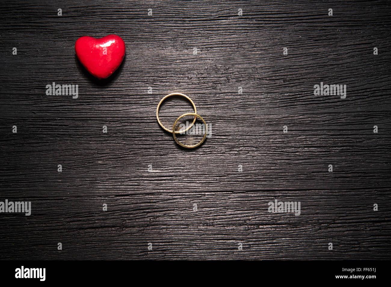 Wedding rings black background