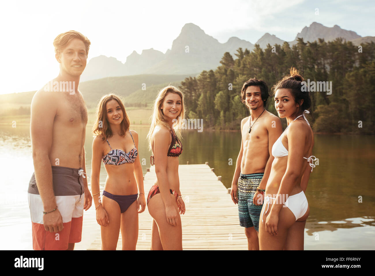 men wearing women's bikini