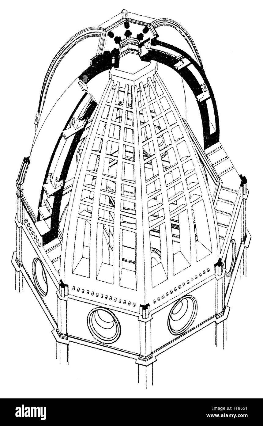 BRUNELLESCHI: DOME PLAN. /nModern diagram of Filippo ...