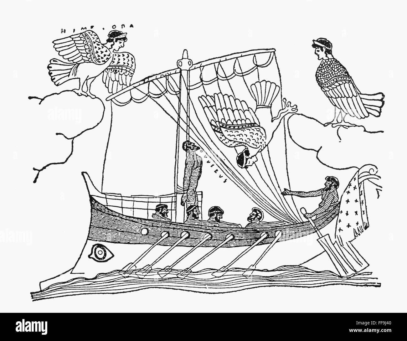 HOMER: THE ODYSSEY. /nUlysses and the Sirens from Book 12 of the ...
