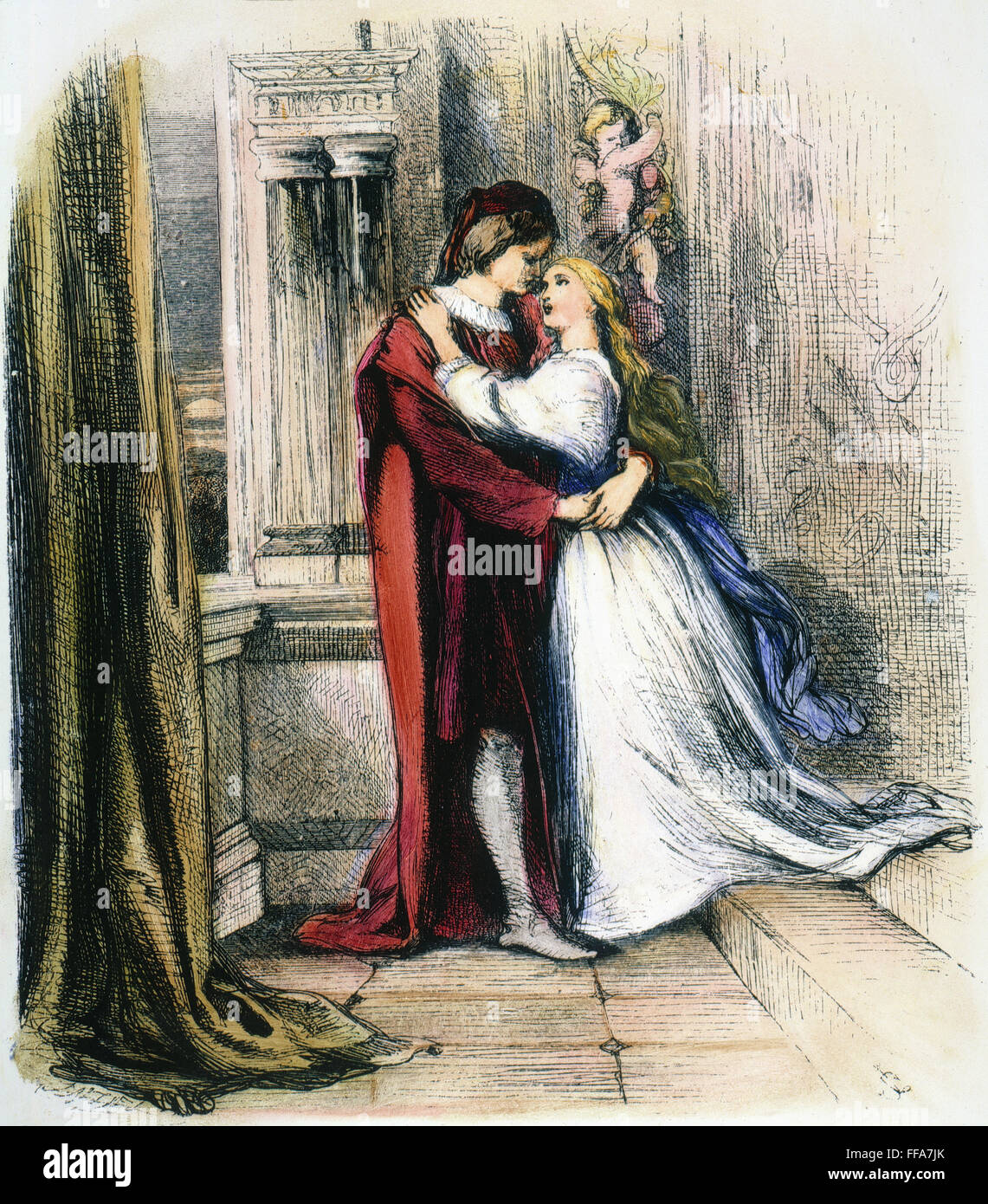 "a comparison of romeo and juliet in the balcony scene by william shakespeare Over the past few weeks a lively discussion has been going on at the shakespeare noticeboard shaksper under the title ""balcony"" the so-called balcony scene in romeo and juliet is probably shakespeare's most famous single scene, and no wonder as it's the one where romeo and juliet, at night ."