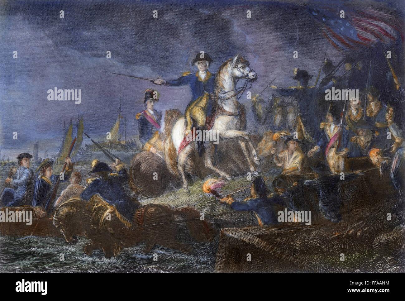 NEW YORK: RETREAT, 1776. /nGeneral George Washington directing the ...