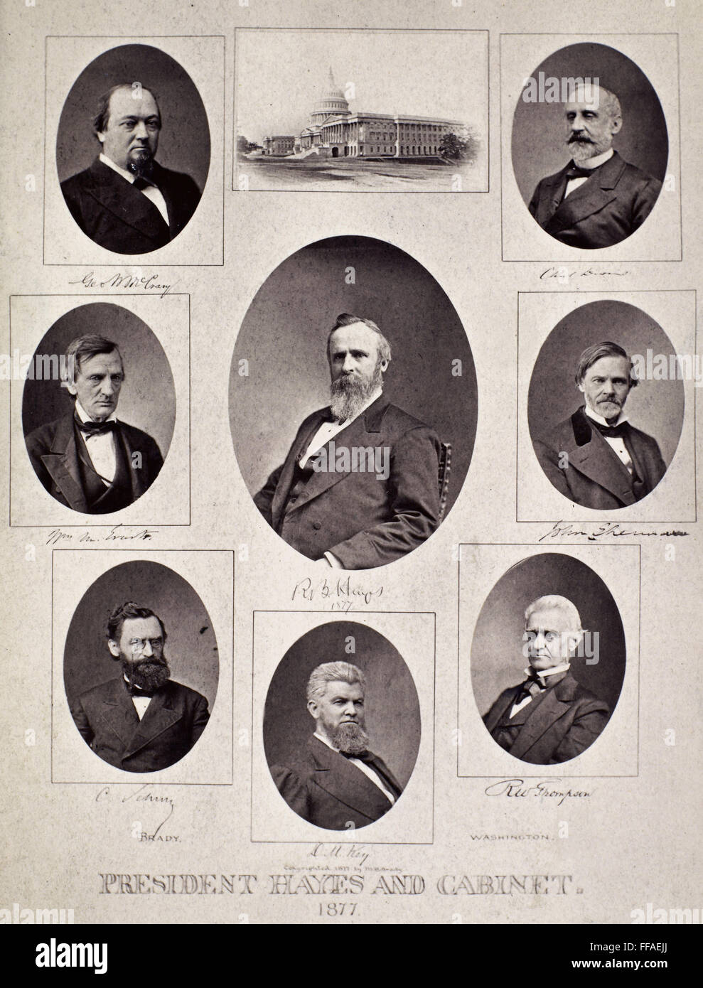 HAYES WITH HIS CABINET. /nPresident Rutherford B. Hayes and his ...