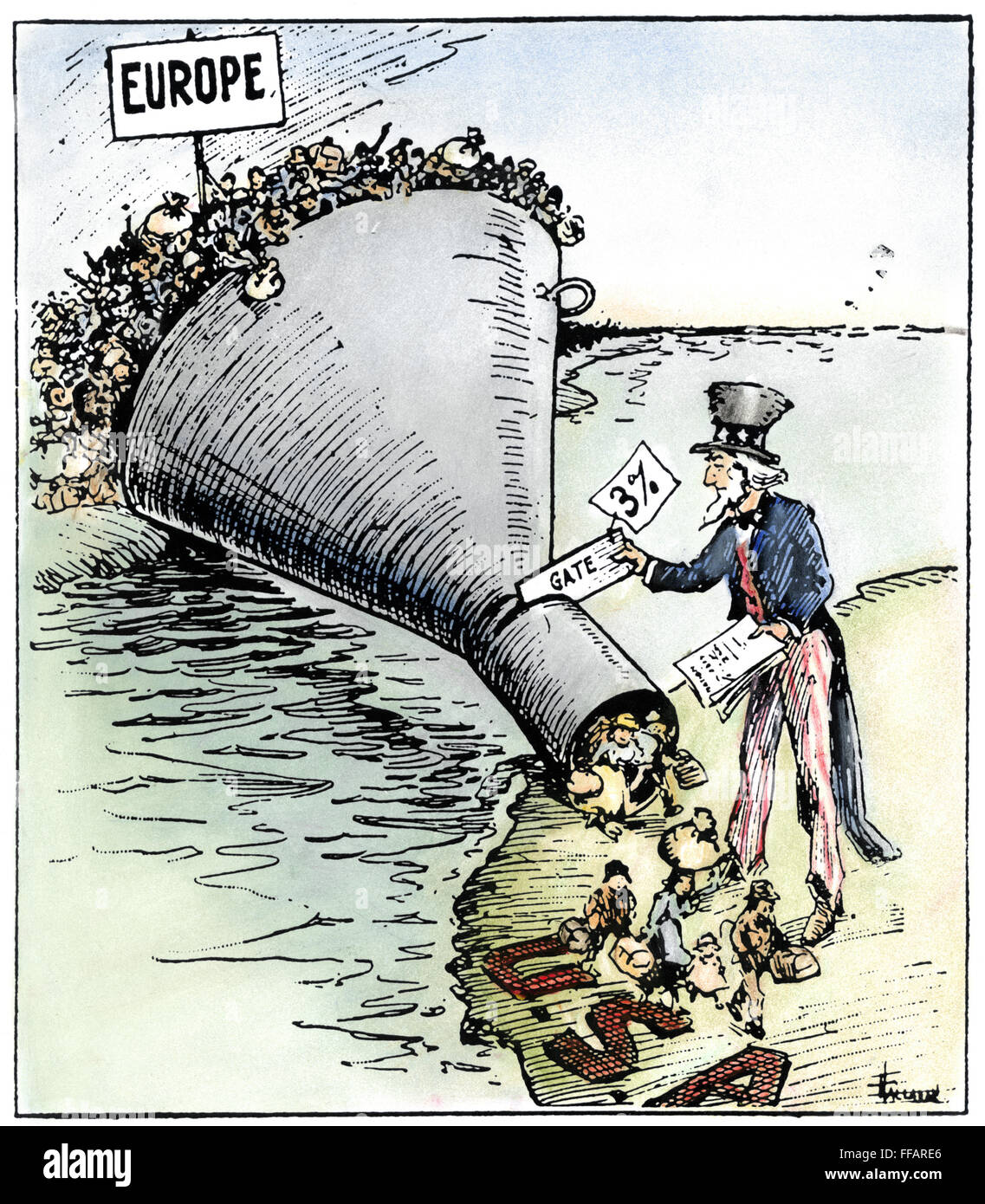 immigration cartoon 1921 nthe only way to handle it