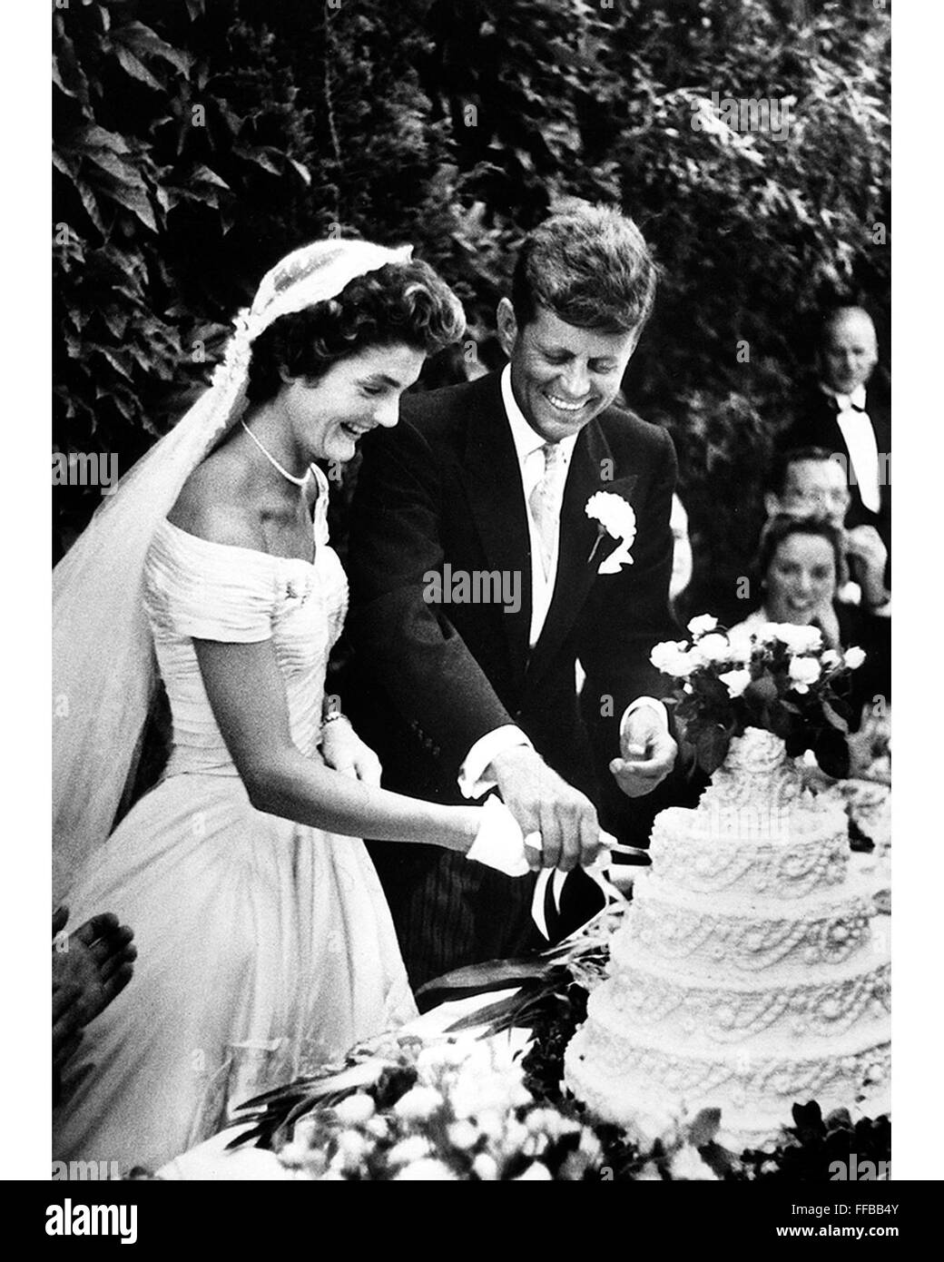 Wedding of john f kennedy and jacqueline bouvier at hammersmith wedding of john f kennedy and jacqueline bouvier at hammersmith farm newport rhode island on september 12 1953 photograph by toni frissell junglespirit Gallery