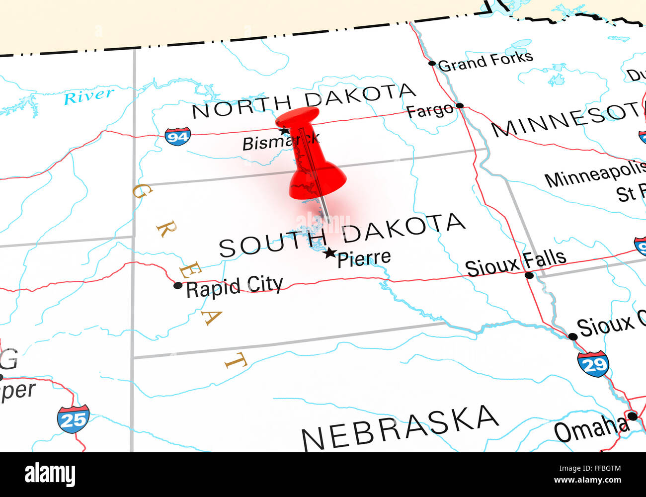 Road Map Of South Dakota With Cities Map Sd - Map usa south dakota