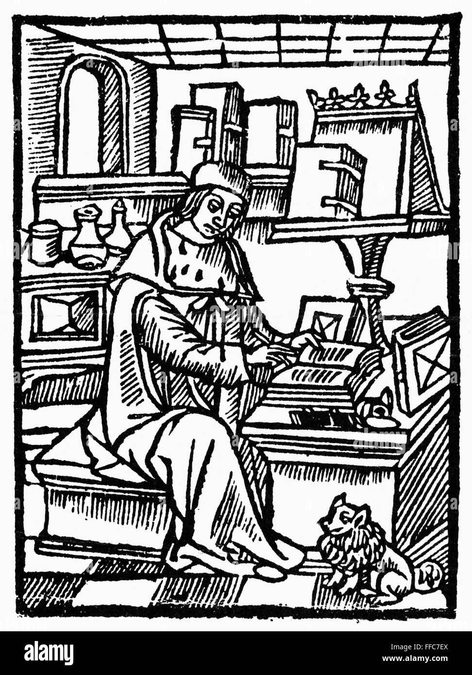 Medieval Writer Na Medieval Writer Possibliy A Scribe