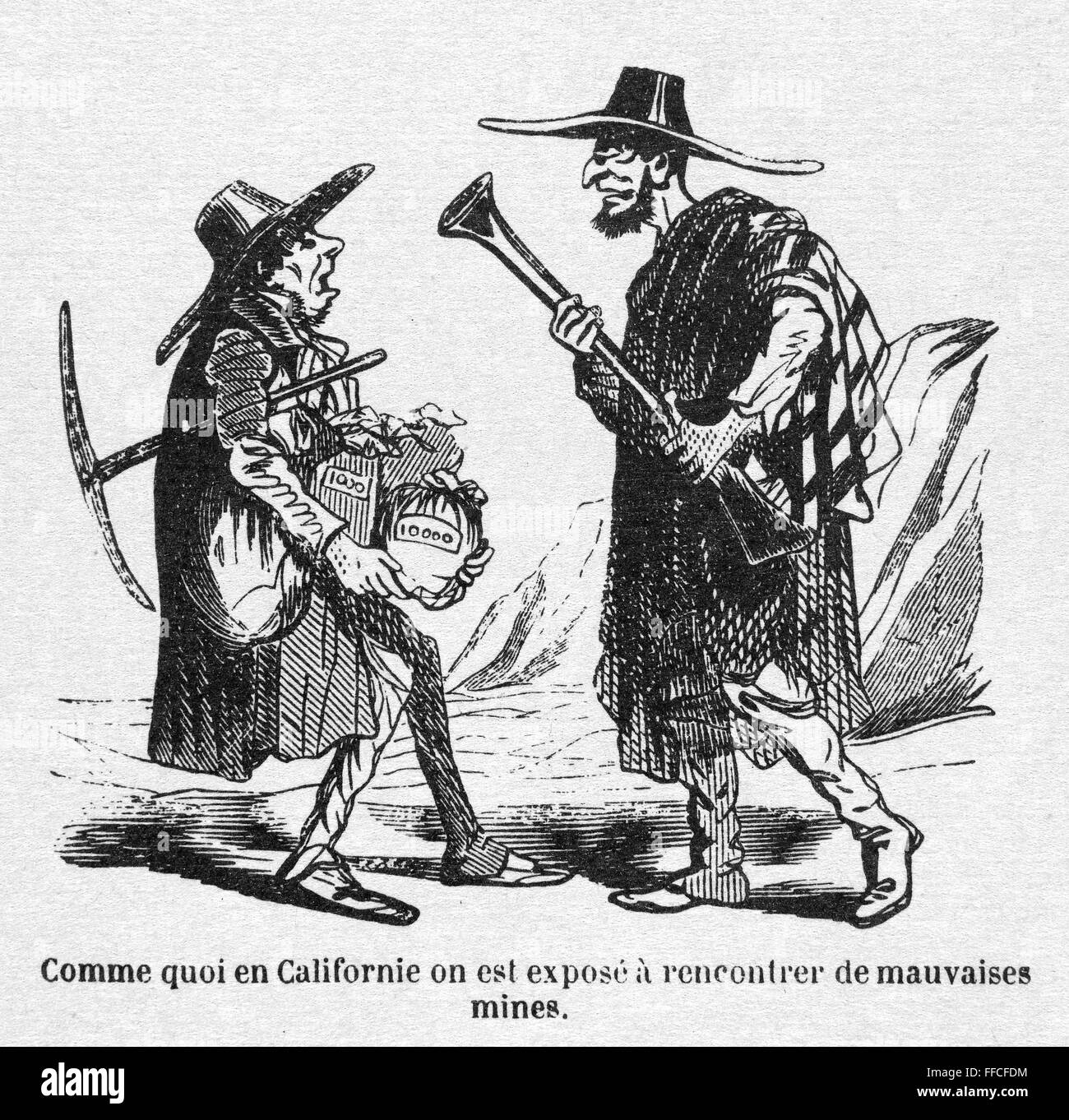 gold rush cartoon nsatirical french cartoon depicting