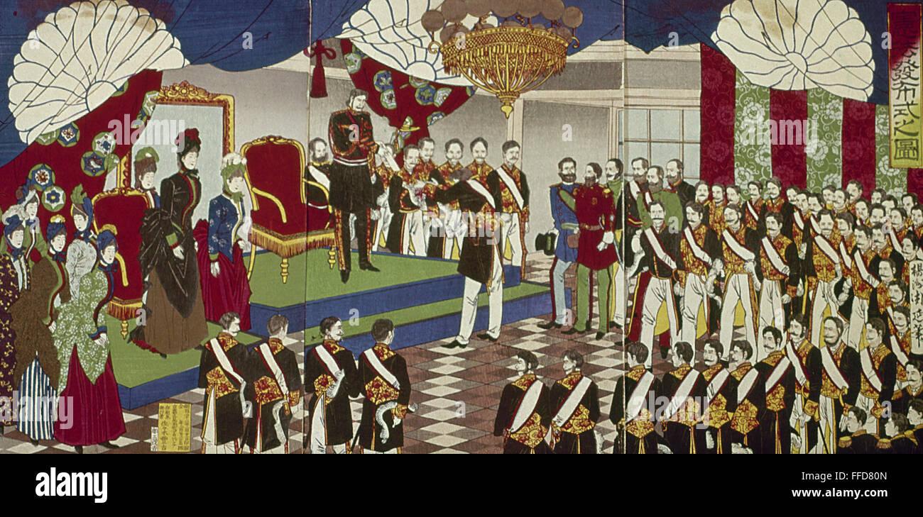 meiji constitution The constitution of the empire of japan (kyūjitai: 大日本帝國憲法 shinjitai: 大日本帝国憲法 dai-nippon teikoku kenpō), known informally as the meiji constitution (明治憲法 meiji kenpō), was the constitution.