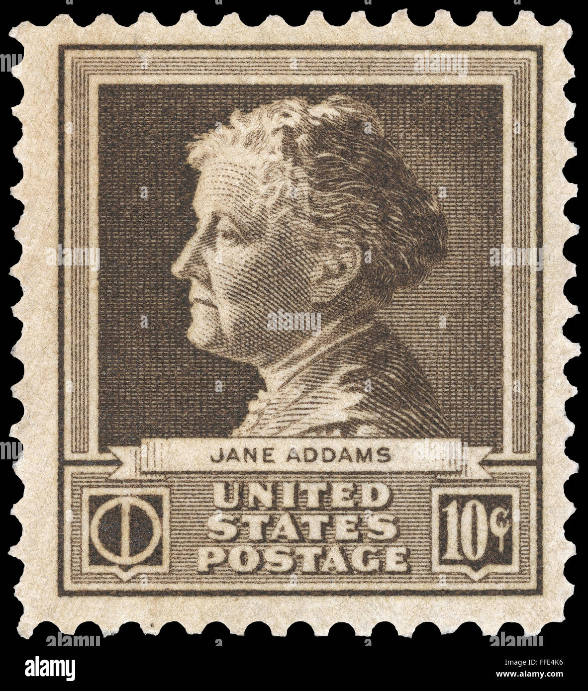 jane addams (1860-1935). /namerican social worker and cofounder of