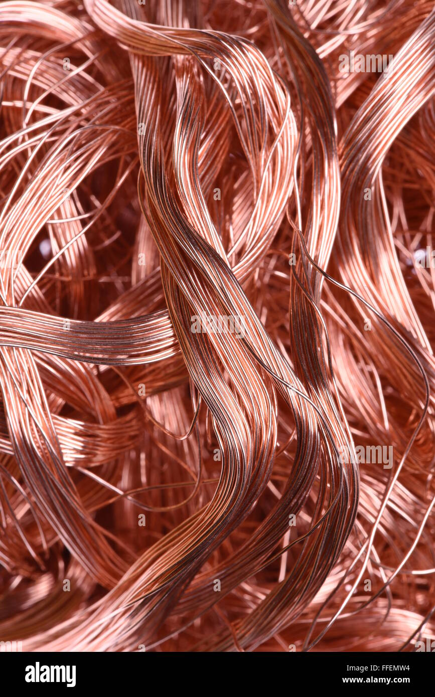 Copper wire, industrial raw materials Stock Photo, Royalty Free ...