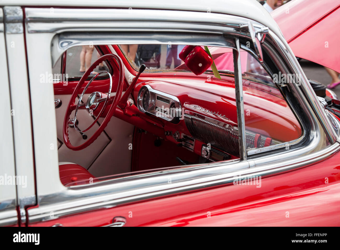 Chevrolet Bel Air Power Glide at Kissimmee Old Town weekly car Stock ...