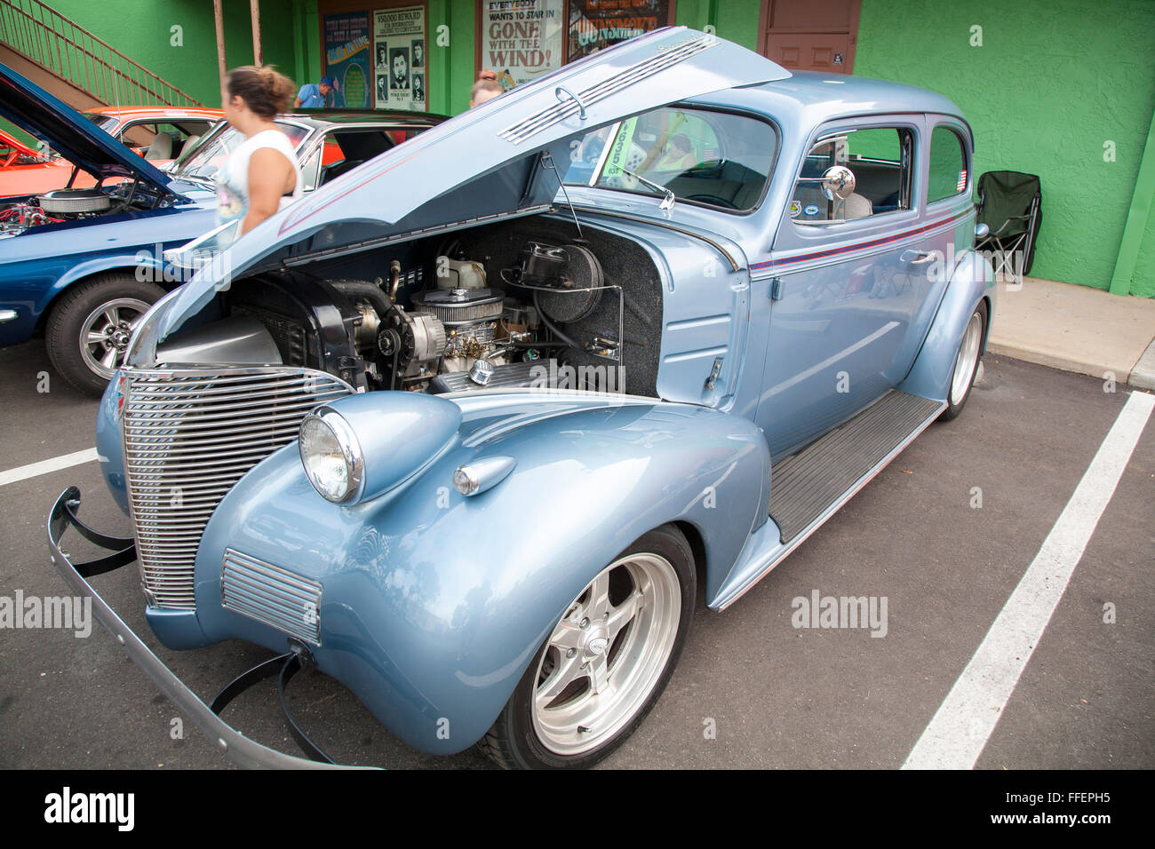 Classic car on display at Kissimmee Old Town weekly car cruise Stock ...