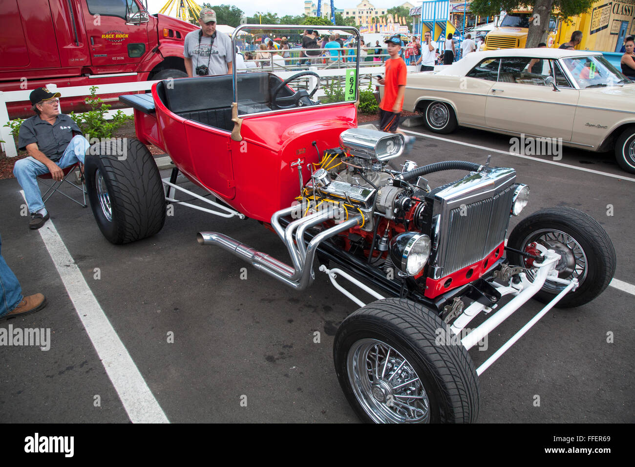 Classic car at Kissimmee Old Town weekly car cruise, Kissimmee Stock ...