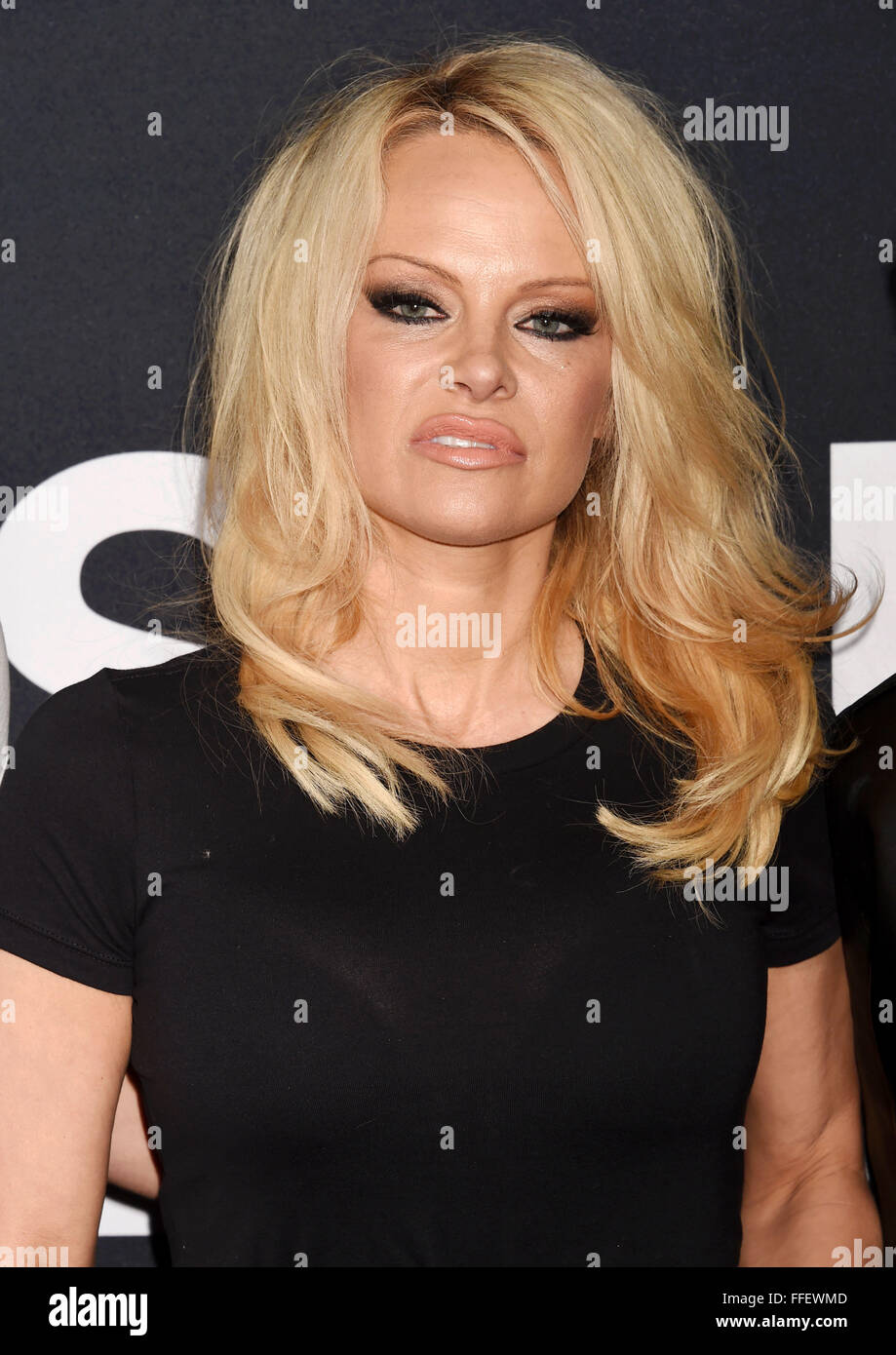 Pamela Anderson Us Film Actress In February 2016. Photo Jeffrey ... Pamela Anderson