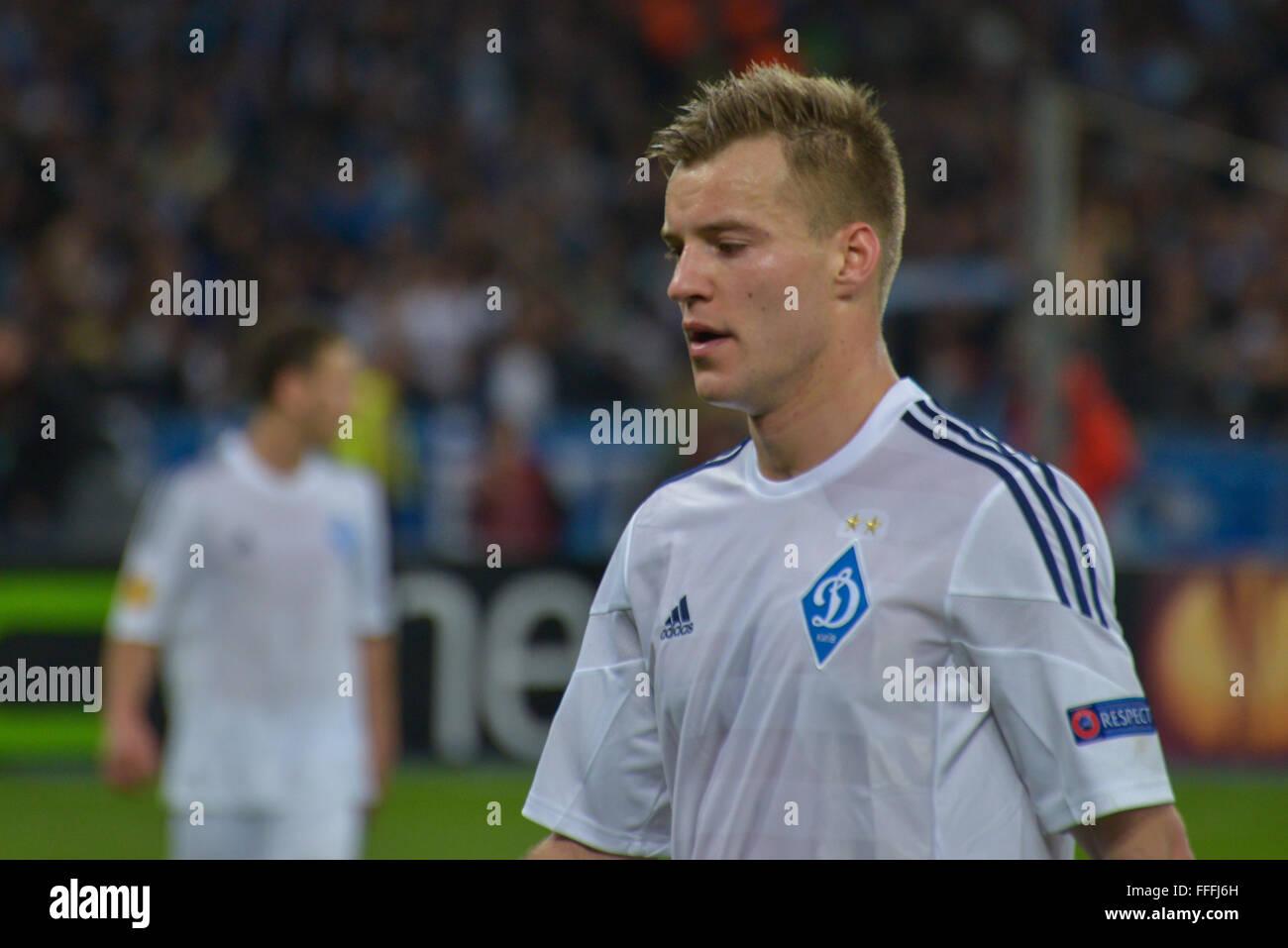 Andriy Yarmolenko during soccer match between FC Dynamo Kiev UKR