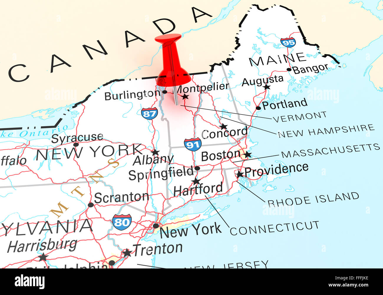 Vermont State Maps USA Maps Of Vermont VT Vermont State Maps USA - New york vermont map