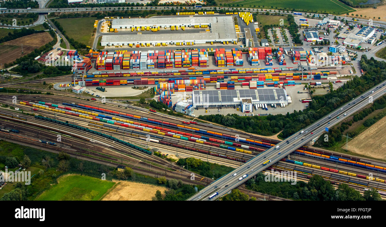 aerial view container terminal regensburg umschlagbahnhof stock photo 95642254 alamy. Black Bedroom Furniture Sets. Home Design Ideas