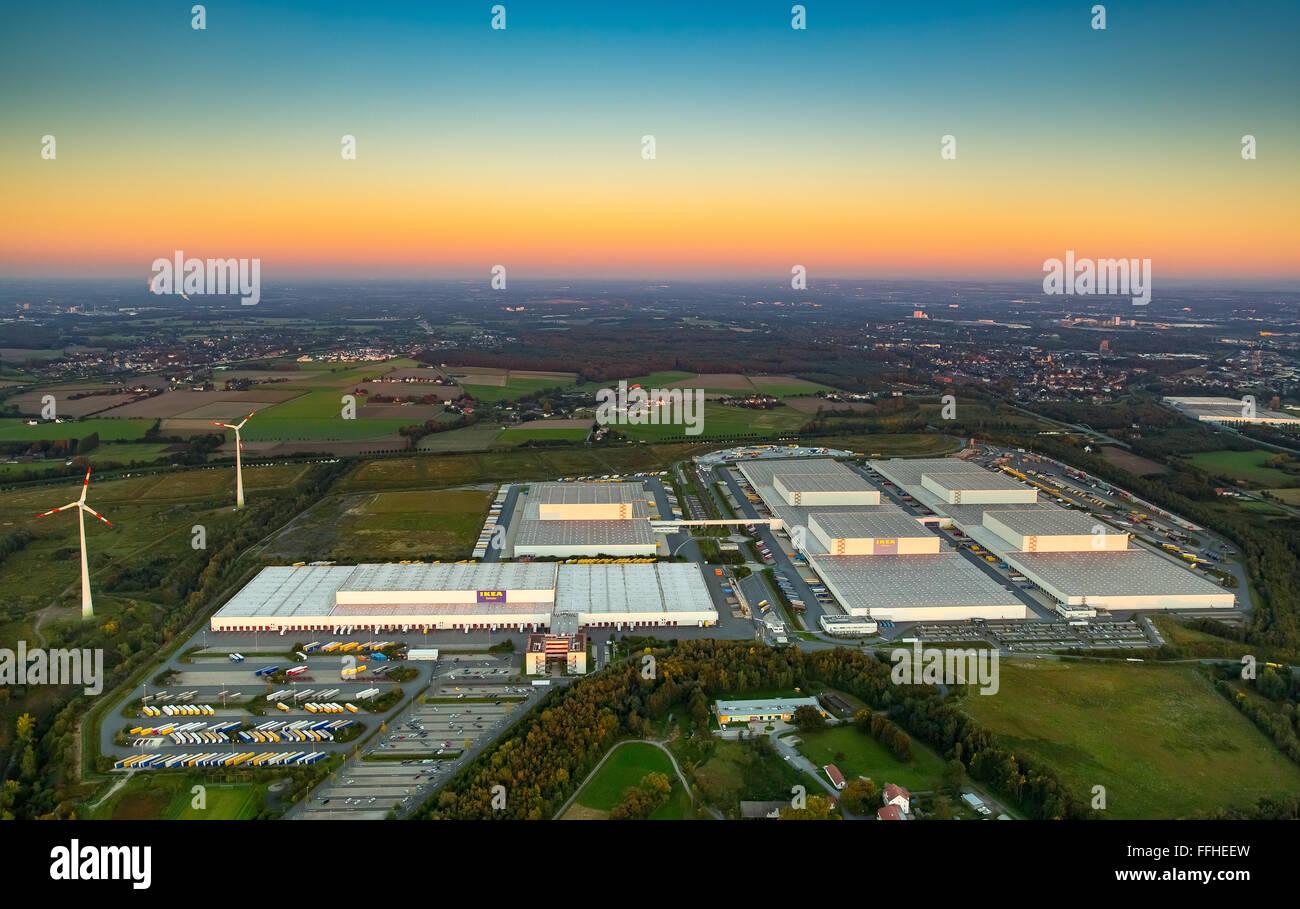 Aerial View, IKEA Logistics Center Dortmund Ellingshausen, Furniture  Discount Stores, Warehouse, Logistics