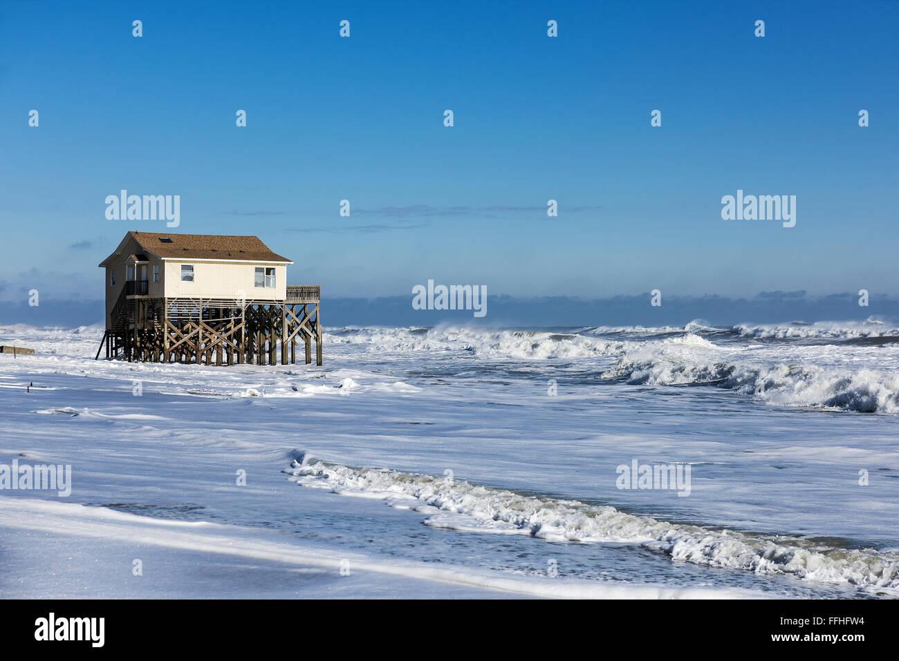 beach house on stilts surrounded by high tide surf nags modern beach house on stilts plans modern beach house