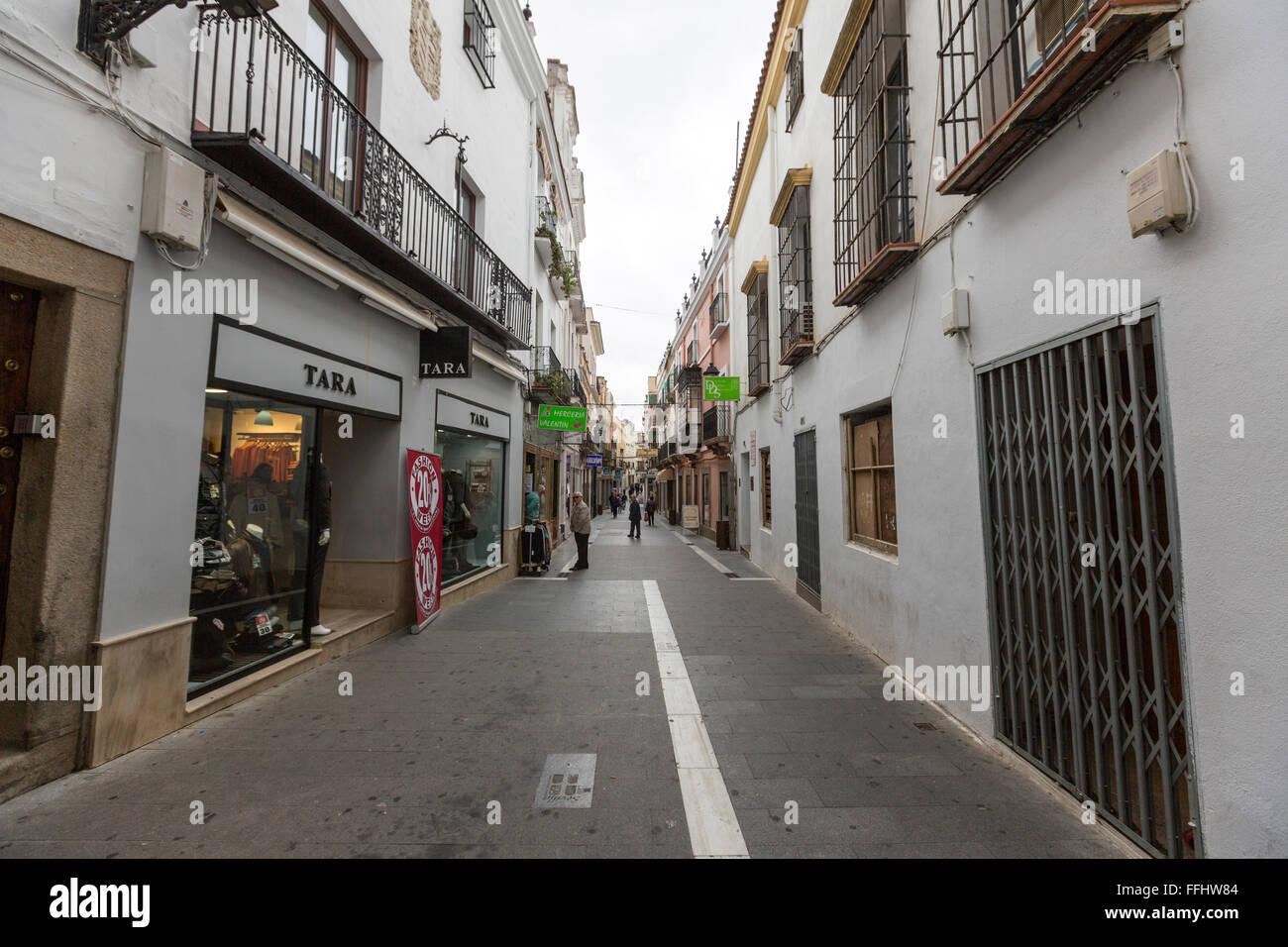Pedestrian calle sevilla zafra extremadura spain stock - Calle correduria sevilla ...