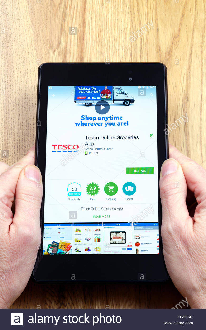 Phone Tesco Android Phones tesco online store app on an android tablet pc dorset england stock photo uk