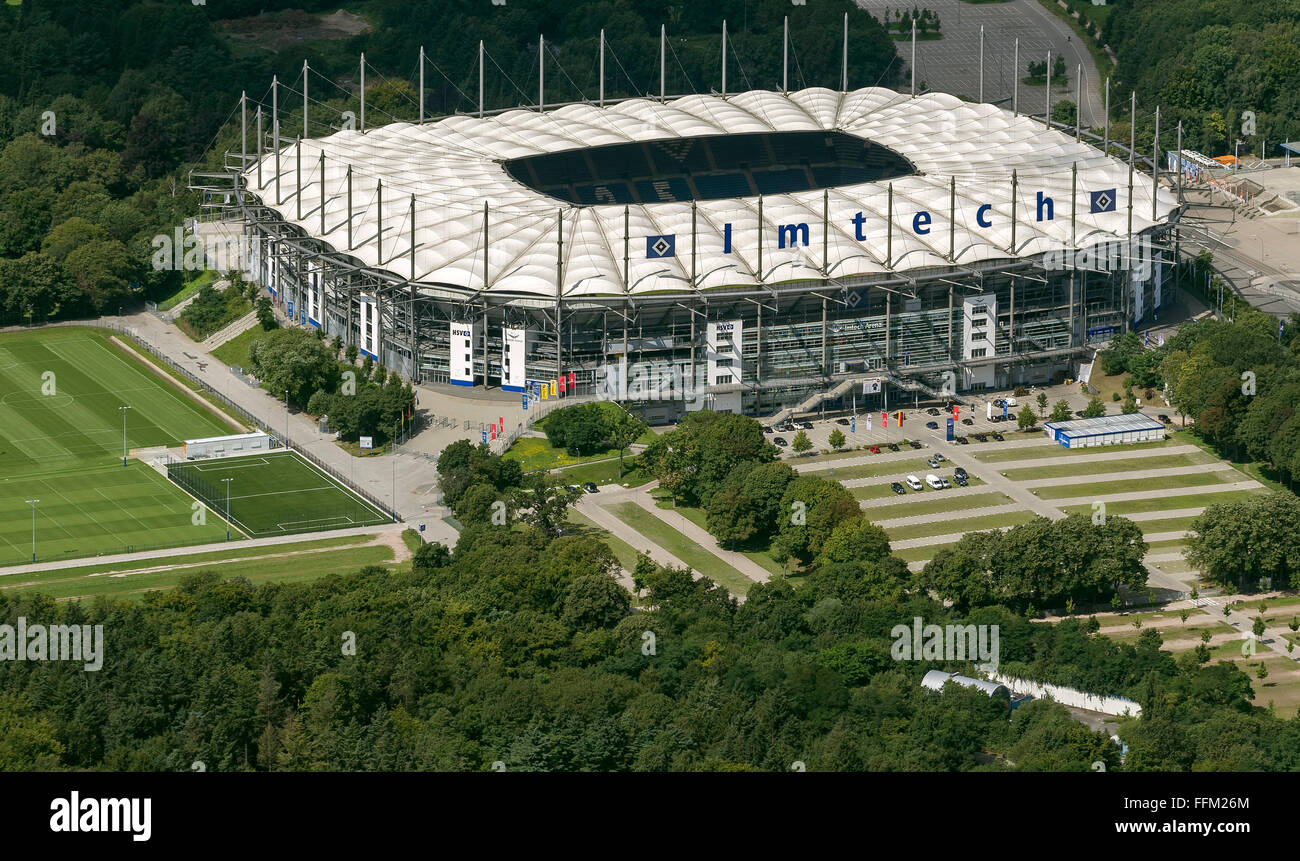 aerial view imtech arena hsv arena hsh nordbank arena hamburg stock photo royalty free. Black Bedroom Furniture Sets. Home Design Ideas
