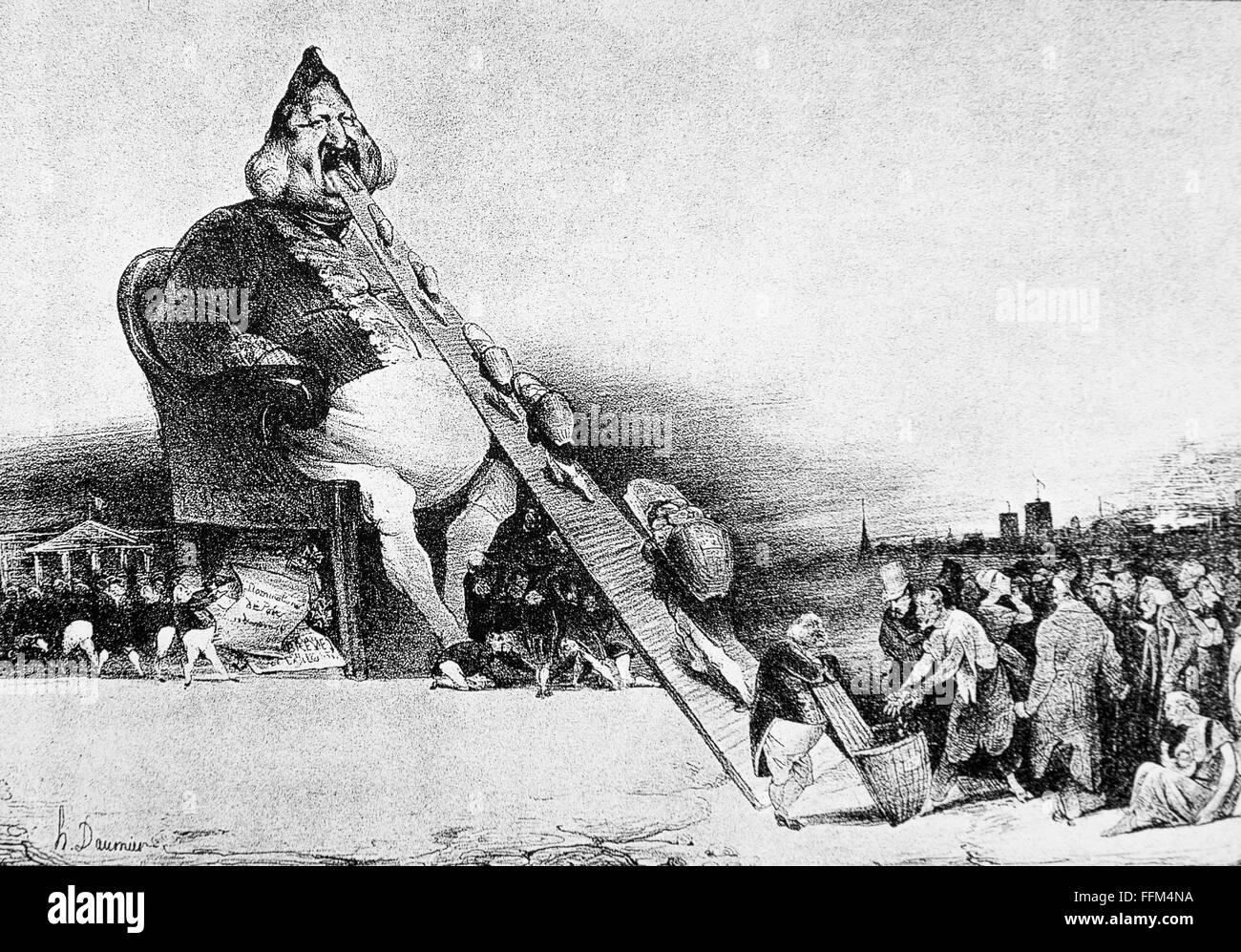 Honore Daumier, Gargantua ( 1831 ) , Lithograph Stock ...