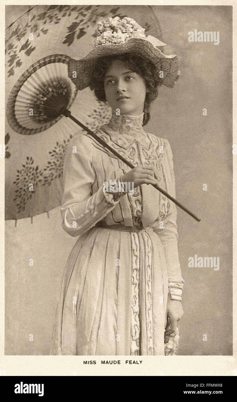 fealy stock photos fealy stock images alamy maude fealy parasol vintage postcard 1900 stock image