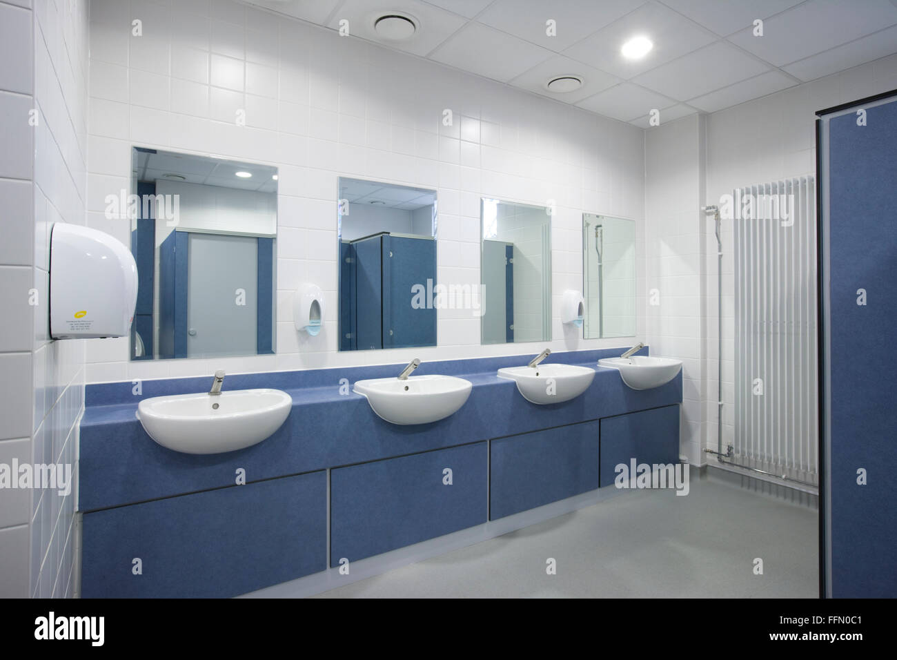 Modern office toilets and washroom stock photo royalty for Modern washroom