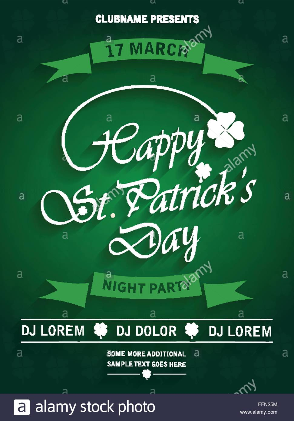 St. Patrick\'s Day party invitation poster. Vector illustration ...