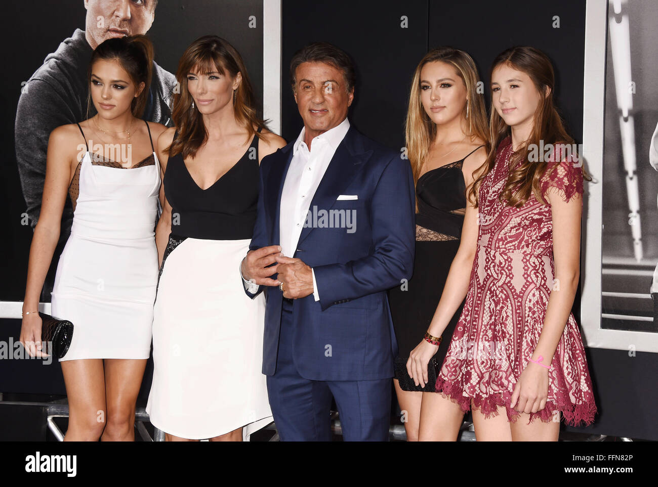 Family photo of the celebrity famous for Stallone Family.
