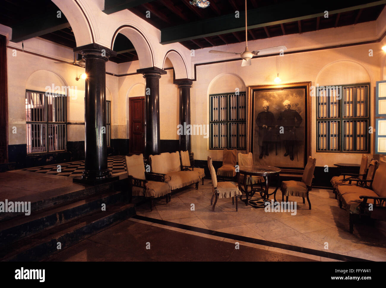 Drawing room in nattukottai chettiar nagarathar house ; Chettinad ...