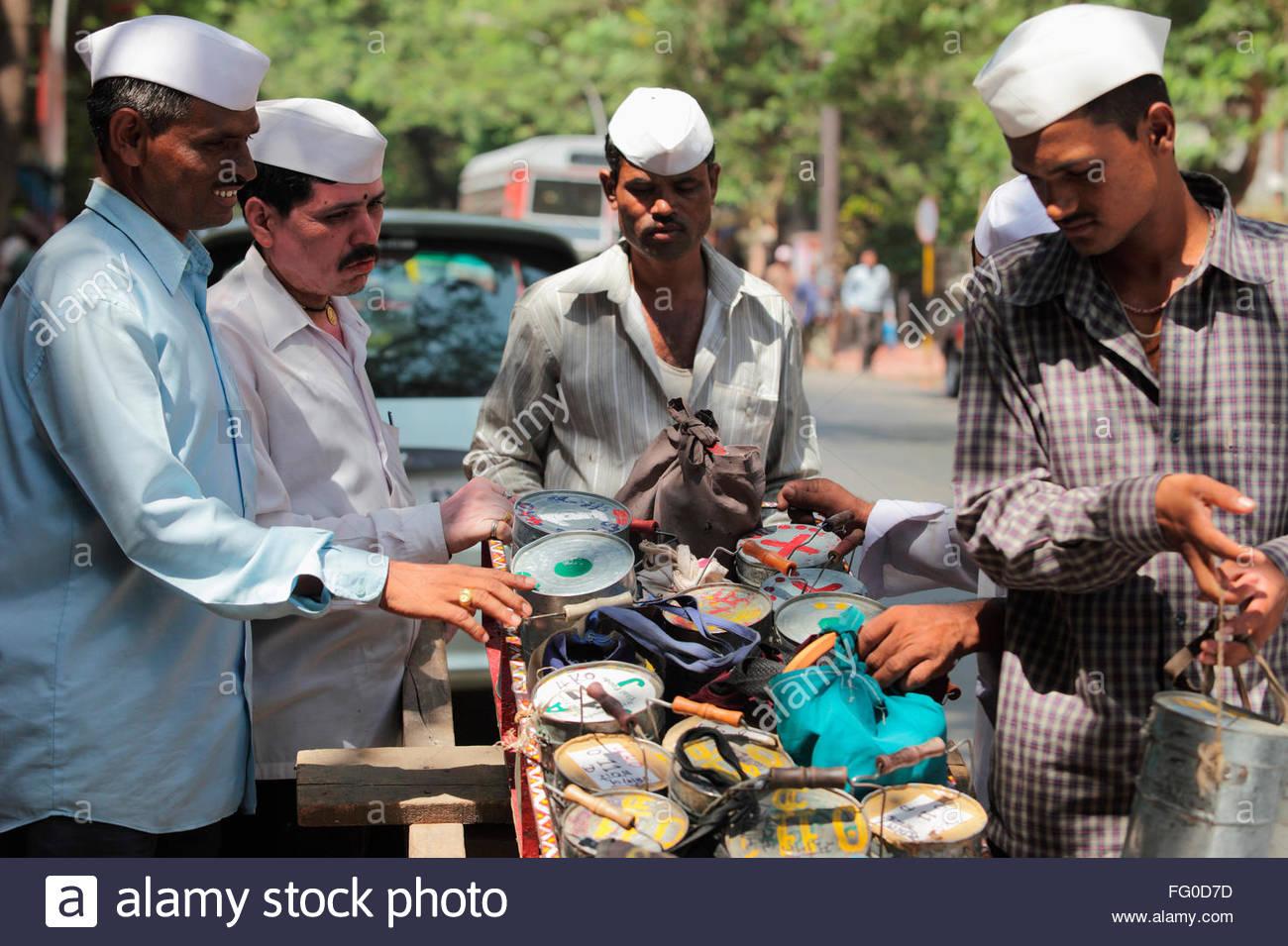 Indian dabbawala dabbawalla tiffin carrier at work of providing lunch boxes ; Bombay Mumbai ; Maharashtra ; India MR#748R  sc 1 st  Alamy & Indian dabbawala dabbawalla tiffin carrier at work of providing ... Aboutintivar.Com