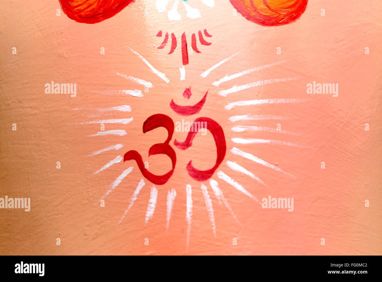 Hindu symbol on forehead stock photos hindu symbol on forehead om symbol painted on forehead of idol lord ganesh elephant headed god ganpati festival lalbaug bombay biocorpaavc