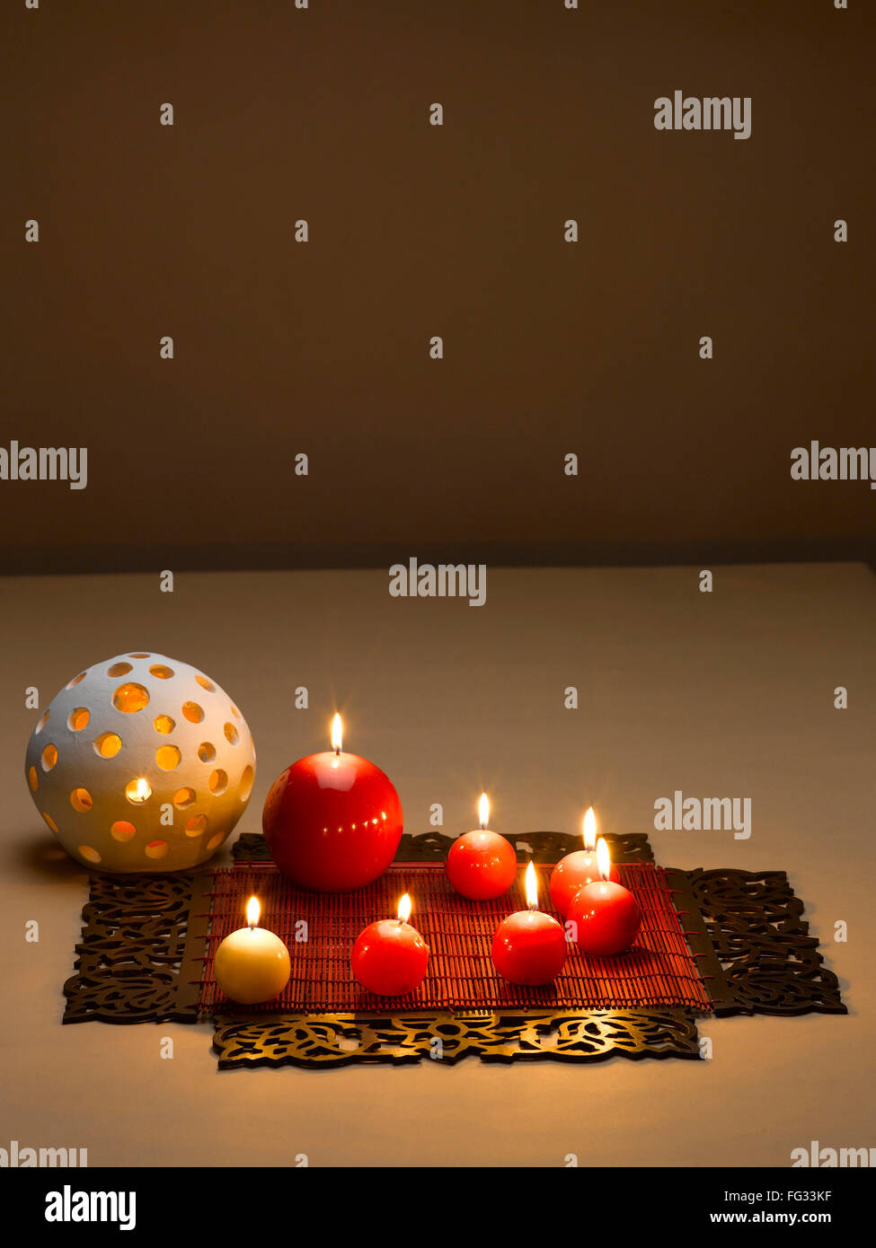 New Style Wax Lamps Decoration During Diwali Festival India