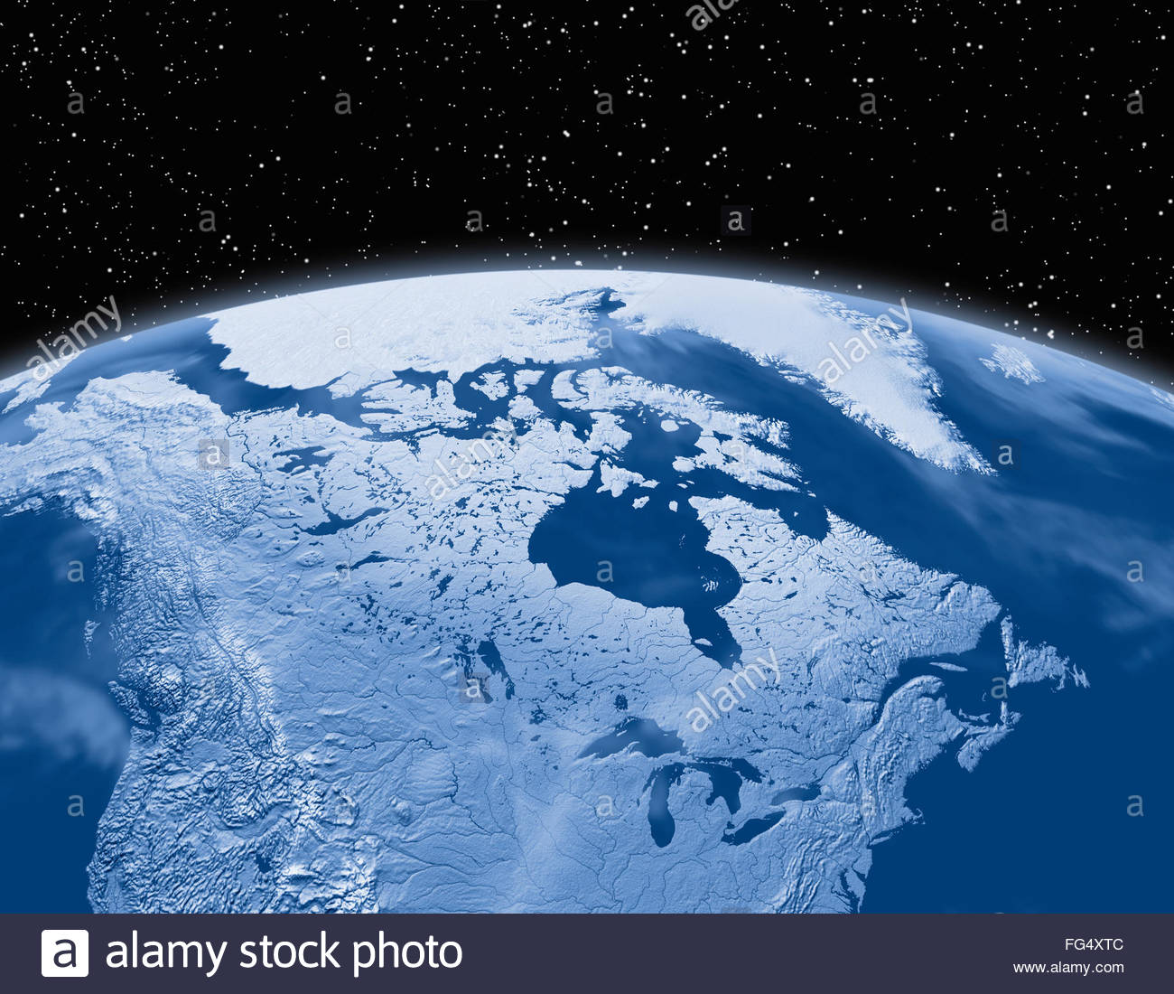 Simulated Satellite View Of Part Of The Earth From Space World Map - Earth map satellite
