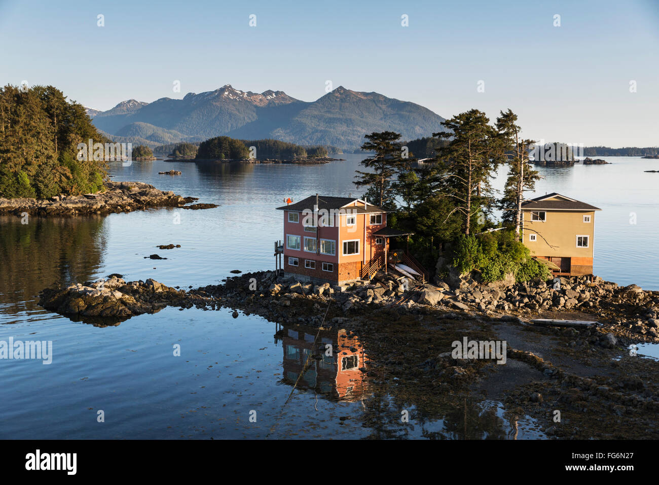 Small island with residential homes sitka southeast for Home builders in alaska